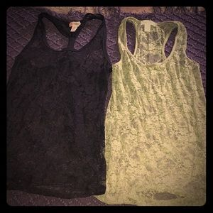 Two lace tanks. As one item